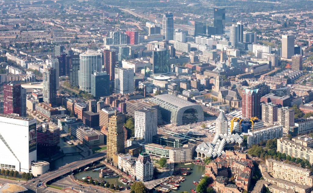 Markthal Aerial View Rotterdam