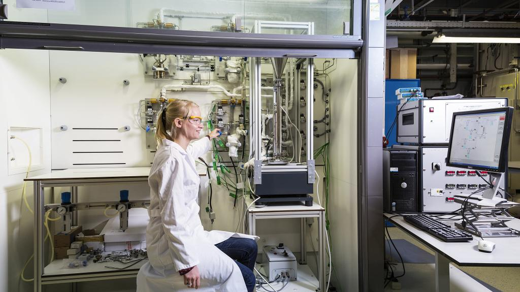 student in een lab