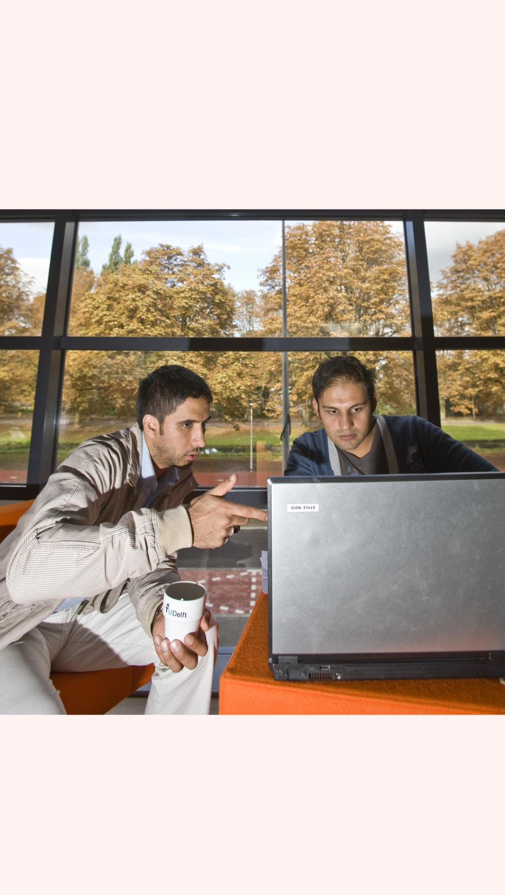 studenten met laptop